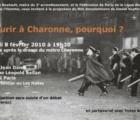 LUNDI 8 FÉVRIER 2010 à 19H30 ☞ «Mourir à Charonne, pourquoi ?», de Daniel Kupferstein